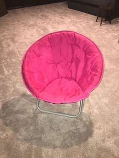 Pink moon chair