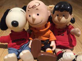 Charlie Brown and Snoopy collectible soft toys fm Sates