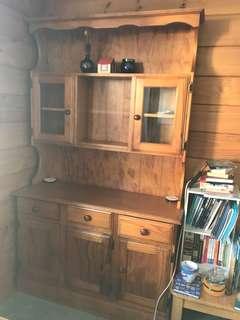 Wooden hutch/shelves/ storage unit