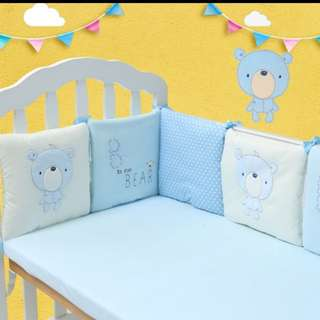 6pcs Comfortable Baby Crib Cotton bumper bed protector pillow