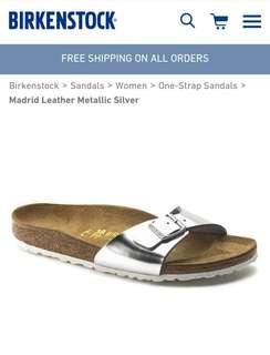 Original Birkenstock Metallic Silver Madrid