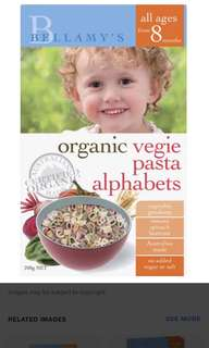 Bellamy organic baby pasta