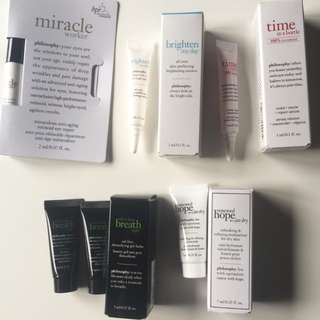 Philosophy Skin Care Products x 6. (Brand New)