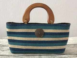 Wooden Handle Lunch Bag