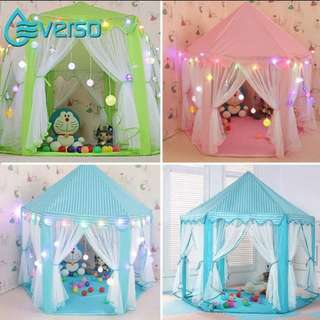 Children kids Tent playpen portable folding princess castle tent teepee fairy