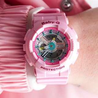 Authentic Brand New Casio G-Shock BA-110CA-4A Neo Pink Lustrous Pastel Ladies Watch BA110 BA110CA BA110CA-4 BA110CA-4A BA-110CA-4 BA-110CA