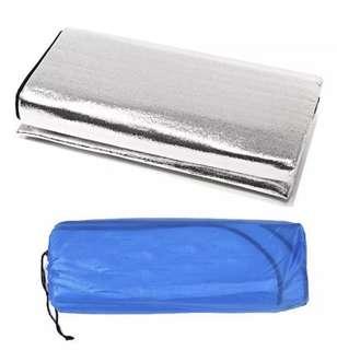 INSTOCK 2*2M Double-side Sleeping Mattress Mat Pad Waterproof Aluminum Foil Outdoor Camping Mat (Silver)