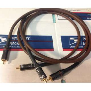 WTS: Two (2) stereo pairs of 1 metre length Belden 8402 Interconnects (RCA)