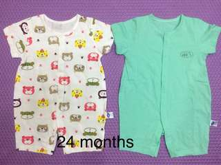 Cotton baby rompers for 24 months