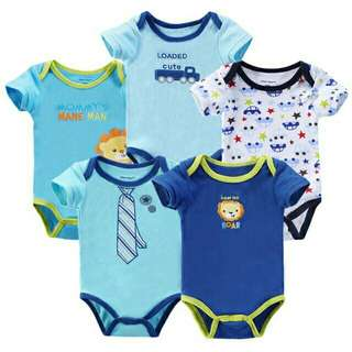 ( 5 PIECES ) Baby Boy And Girl Carters Romper