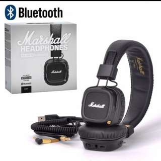 Authentic Marshall Major 2 Bluetooth Headphones Wireless headset
