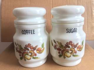 Vintage Glass Coffee & Sugar Jar