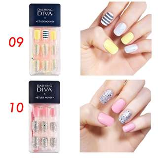 Dashibg Diva x Etude House Magic Press On  Nails Set
