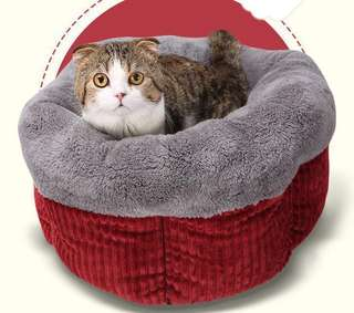 💙PRE- ORDER💙NEW COLLECTION PREMIUM HIGH QUALITY Barrel Shape Thickness Velvet Fleece Dog & Cat Pet Bed