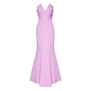 Lilac sweetheart strapless gown