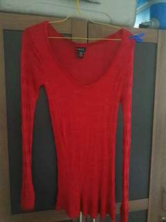 Preloved Mini Dresss Pink Merah Fanta Fit to L Brand Rhue21 Bahannya lentur bs melar ikut body