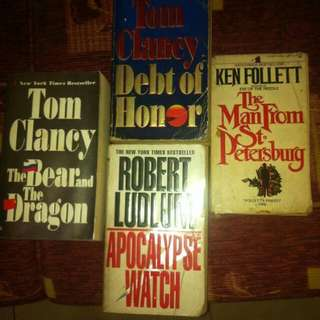 Books : Assorted Thrillers - 80 each
