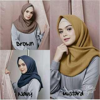 Segi4 Fiber by Vanilla Hijab | Segi Empat Cotton Voal Vanilla