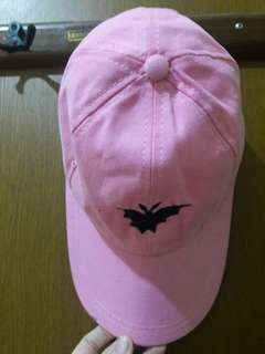 Preloved Topi Pink Fashion Import Korea Mat Katun Tebel Cakep