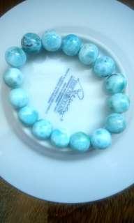 Larimar 10mm gemstones bracelet