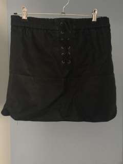 Supre Black Leather Skirt Size: S