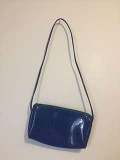 small blue purse