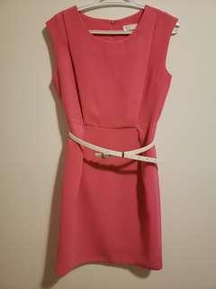Korean brand work pink dress