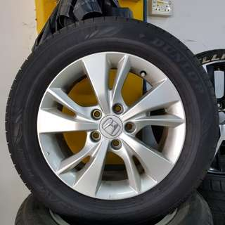 16 Inch 5x114.3 Used Rims & Tyres