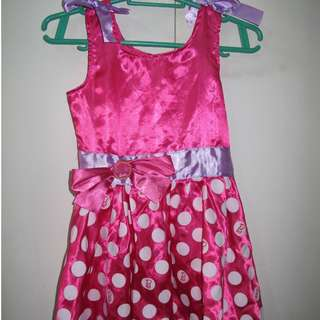 Barbie Pink Polka Dress Costume