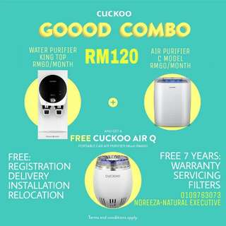 CUCKOO COMBO + FREE CAR AIR PURIFIER