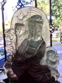 Magnificent Natural Crystal Guan Yin