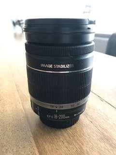 Canon efs 18-200mm lens