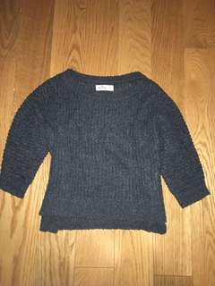 Hollister gray knit sweater (xsmall)