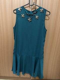 Zalora Embellished Peplum Dress