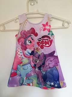 Baby girls dress my little pony