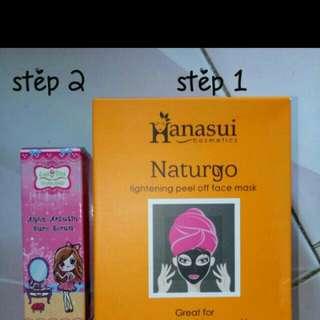 Paket murmer masker naturgo & serum alpha arbutin