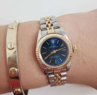 ORIGINAL ROLEX OYSTER PERPETUAL LADIES 26MM FLUTED BEZEL