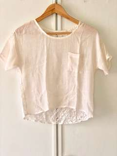 Summer lace top blouse