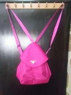 PRADA inspired BAG ,2 way (BACK AND SLING BAG) HOT PINK COLOR