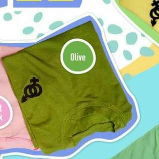Kaos Anak Murah size L warna Hijau Olive CIRCLE TEE