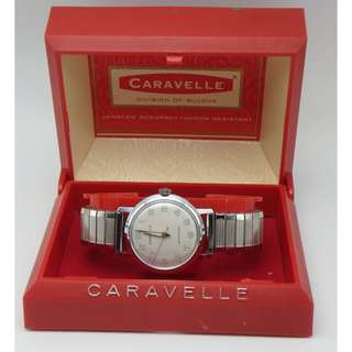 1966年 Caravelle by Bulova ~ Waterproof Manual Wind Men's Watch w/Box