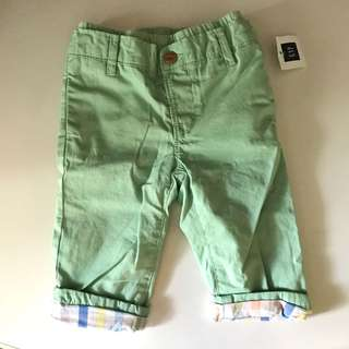 new Gap baby pull-on pants 12m