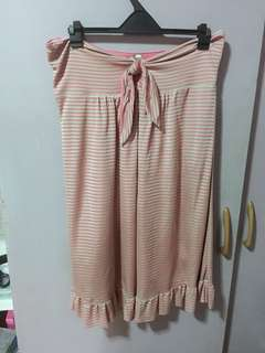 Pink/Gold Striped Tube Dress
