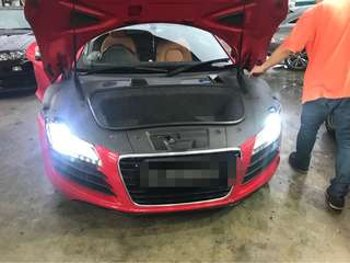 Hid bulbs upgrade for Audi R8