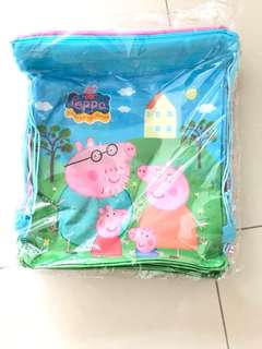 Peppa Pig party draw string bag
