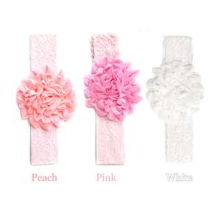 Blossom 28 Charming Lace Flower Baby Head Band BHB002-004