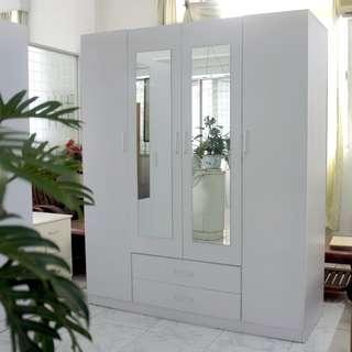 Brand New 4 Door 2 Drawer Redfern Wardrobe with mirror