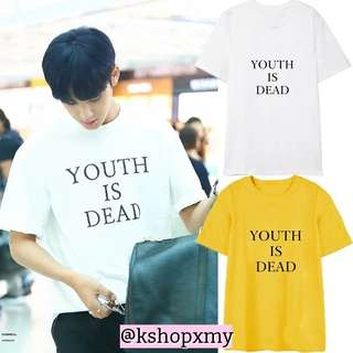 Seventeen Mingyu ' Youth Is Dead ' Tee