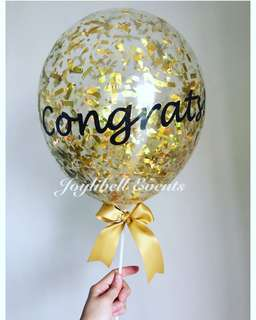 Confetti balloon on stick (customized)