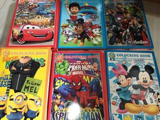 Instock while stock last!! 24pages kids Coloring Book Brand new design- hello kitty/princess/Sofia/peppa pig/frozen/mc Queen/paw patrol/avengers/Mickey/minions/spiderman . Gd quality